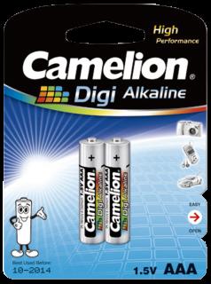Micro-Batterie CAMELION ''Digi Alkaline'' 1,5 V, Typ AAA/LR03, 2er Blister