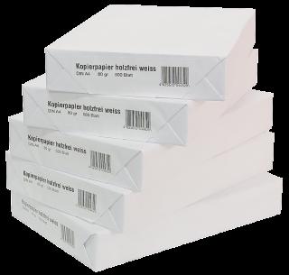 Kopierpapier DIN A4, 80 g/qm, Karton mit 2500 Blatt