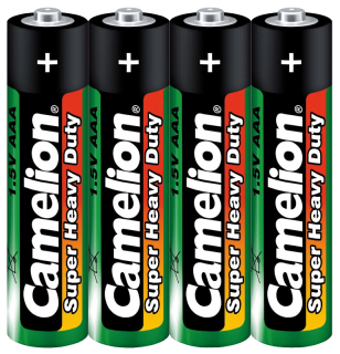 Micro-Batterie CAMELION Super Heavy Duty, 1,5 V, Typ AAA/R03, 4er Pack