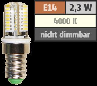 LED-Lampe McShine ''Silicia'', E14, 2,3W, 200 lm, neutralweiß