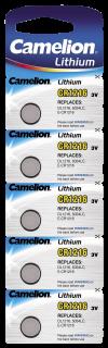 Knopfzelle CAMELION, CR1216 3,0V, Lithium, 5er-Blister