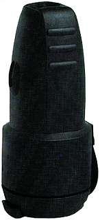 Gummi-Schutzkontakt-Kupplung McVoice schwarz Spritzwasser geschütz, mit Deckel